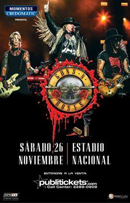 4- Concierto Guns n Roses en Costa Rica