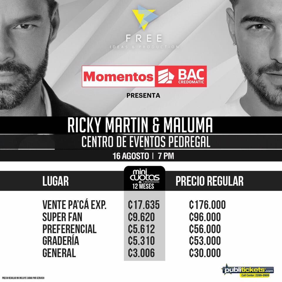 2- Concierto Maluma y Ricky Martin